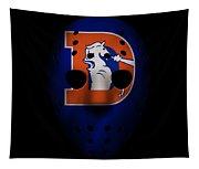 Denver Broncos War Mask 3 Tapestry