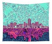 Denver Skyline Abstract 7 Tapestry