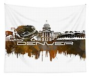 Denver Skyline City Brown Tapestry