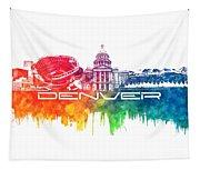 Denver Skyline City Color Tapestry