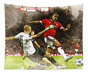Depay In Action Tapestry