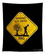 Depressed Buck Hunter Tapestry