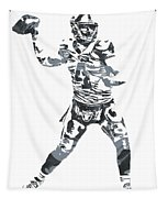 Derek Carr Oakland Raiders Pixel Art 11 Tapestry