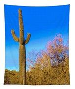 Desert Duo In Bloom Tapestry