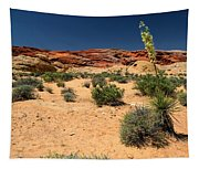 Desert Yucca In Bloom Valley Of Fire Tapestry