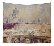 Design For The Thames Embankment, View Looking Downstream Tapestry
