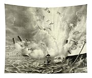 Destruction Of The Us Battleship Maine, 15th February, 1898 Tapestry