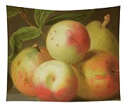 Detail Of Apples On A Shelf Tapestry