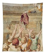 Detail Of Saint Cecilia Distributing Alms Tapestry