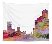 Detroit Colors Tapestry