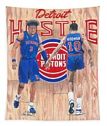 Detroit Hustle - Ben Wallace And Dennis Rodman Tapestry