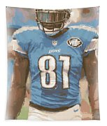 Detroit Lions Calvin Johnson 1 Tapestry