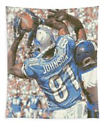 Detroit Lions Calvin Johnson 3 Tapestry