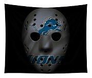 Detroit Lions War Mask 3 Tapestry