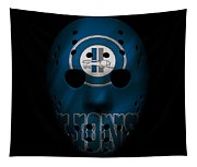 Detroit Lions War Mask Tapestry