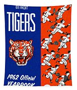 Detroit Tigers 1962 Yearbook Tapestry