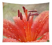 Dew Drops Shining In The Sun Tapestry