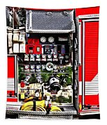 Dials And Hoses On Fire Truck Tapestry