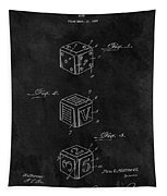 Dice Cube Patent Tapestry