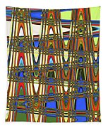 Digital Broad Paint Abstract Tapestry