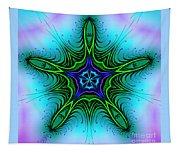 Digital Kaleidoscope Green Star 001 Tapestry