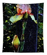 Digital Painting Pink And Yellow Iris 6758 Dp_2 Tapestry