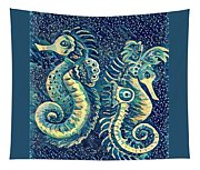 Digital Water Horse 3 Tapestry