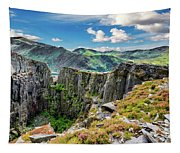 Dinorwic Slate Quarry Snowdon Tapestry