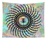 Disc Golf Basket Chains Tapestry