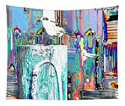 Disco Dock Seagull Tapestry