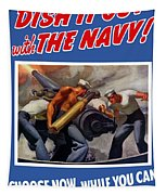 Dish It Out With The Navy Tapestry