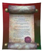 Disney World Christmas In The United States Scroll Tapestry