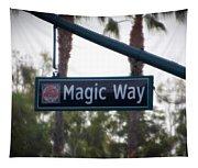 Disneyland Magic Way Street Signage Tapestry