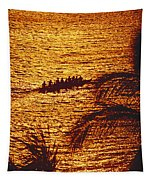 Distant View Of Outrigger Tapestry