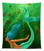 Diving Mermaid Fantasy Art Tapestry