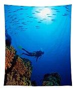 Diving Scene Tapestry