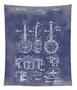 Dixie Banjolele Patent 1954 In Grunge Blue Tapestry