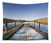 Dock In A Lake, Cumbria, England Tapestry