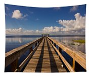 Dock On The Lake Tapestry