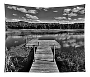 Dock On The Moose River Tapestry