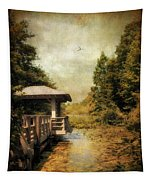 Dock On The Wetlands Tapestry