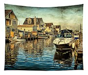 Docked At Pier In Orlieb Beach Nj Tapestry