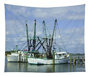 Docked In Port Orange Tapestry