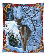 Doe In The Snow Tapestry