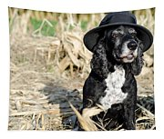 Dog With A Hat Tapestry