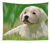 Doggie Seems Sad Tapestry