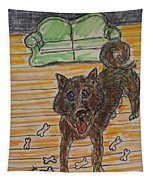 Doggy Snack Time Tapestry