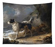 Dogs On The Coast Tapestry