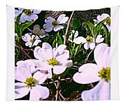 Dogwood Blossoms Pair Up Tapestry