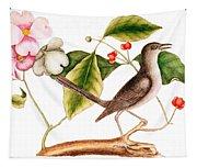 Dogwood  Cornus Florida, And Mocking Bird  Tapestry
